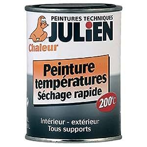 Peinture Température pour métaux ferreux - Aluminium - 250 ml - JULIEN