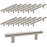 Probrico 15 X Brushed Nickel Stainless Steel Kitchen Cabinet T Bar Handle Furniture Drawer Pulls Cuoboard Knobs PD201HSS96(96mm Hole centers/150mm Long)