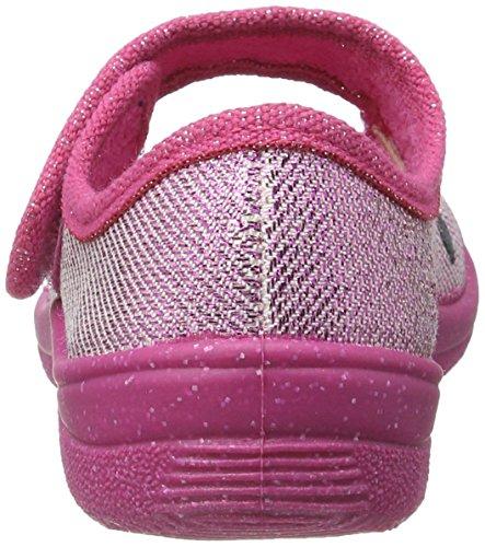 Fischer Mädchen Alex Flache Hausschuhe Pink (Pink)