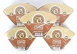 EDESIA ESPRESS - 500 filtri caffè americano in carta non sbiancata - forma a cono - misura 4