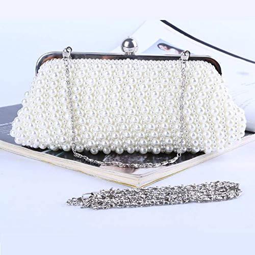 ASDF Frau Pearl Handtasche Qualität Hand Smoking Dinner nach Paket Paket Reine Handarbeit Bestickt. Smoking Dinner