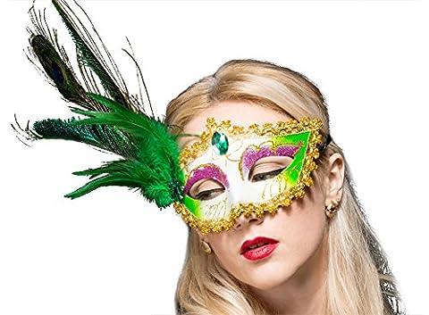 Reine Mardi Gras Costumes Sexy - Moolecole Costume Masque Plume Mascarade Masque Halloween