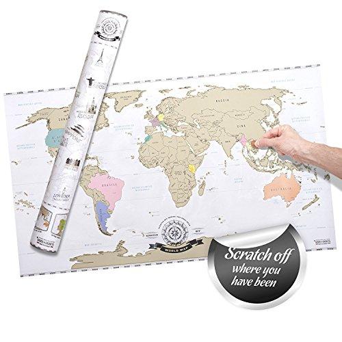 Scrape Off World Map- Mappa del mondo da grattare via Deluxe XXL - edizione italiana