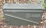 Massive originale gebrauchte Munitionskiste der U.S. Army für 32 Patronen Kaliber 40 mm Metallkiste Mun-Kiste Behälter Metallbox