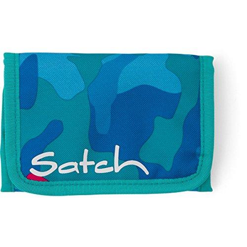 SATCH Black Triad Münzbörse SAT-WAL-001-9C5, 13 cm, 1 L, Heatembossed Pyramide 9D9 blau pink camouflage