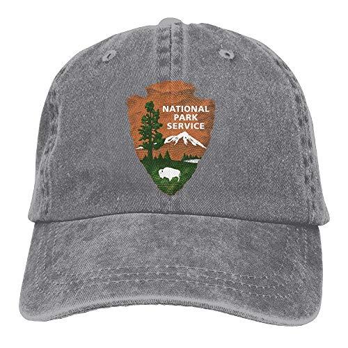 KKAIYA Great Smoky Mountains National Park Unisex Denim Baseball Cap Adjustable Strap Low Profile Plain Hats Outdoor Casquette Adjustable Sunbonnet Black - Canon Wide Strap