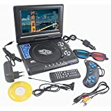 Portable DVD Player 9.8 3D EVD With USB Playback TFT Swivel Flip Screen Game + MP3 + Card Reader Support + 3D Support With Remote And Car Charger (View Shoppers)