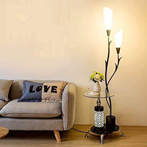 Lampe sur pied salon table basse simple chambre moderne protection des yeux lampe de bureau verticale étude créative lumières de piano ( Couleur : Noir )