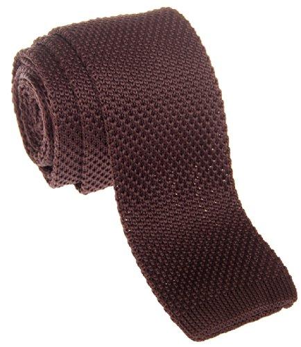 Retreez - corbata vintage de punto, elegante, informal, de 5 cm, para hombre –varios colores marrón marrón oscuro Talla única