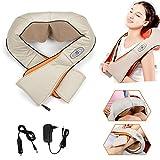 Hengda® Elektrische Schultermassage Rückenmassage Shiatsu Massage Nackenmassagegerät, Infrarot, 8 rotierende Massageköpfe