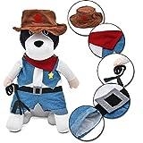 PAWZ Road Halloween Verkleidung Kostüme Allerheiligen Weihnachten Pullover Pulli Weste Hoodie Wintermantel für Hund und Katze in Cowboy Viehhirten Design XL
