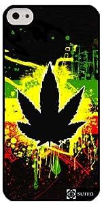 Coque Iphone 5c – Feuille de cannabis de Jamaïque - ref 226