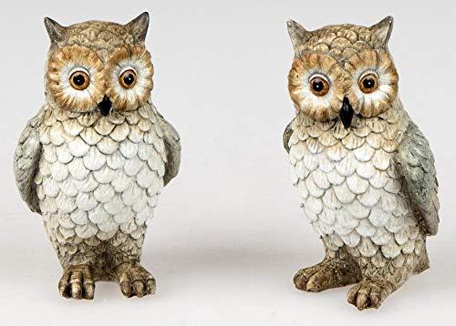 Formano 1 Eule sort. 11cm handgefertigte Deko-Figur aus Kunststein aufwendig gestaltet und bemalt
