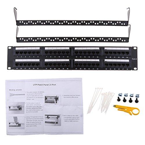 MagiDeal 48 Port-Panel Dual IDC-Anschluss CAT 6 RJ45 UTP Ethernet Netzwerk Patch ungeschirmte Panel (Blöcke Idc 110)