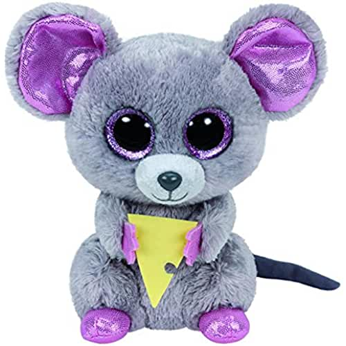 peluches TY - Beanie Boos Squeaker, ratón con queso, 15 cm (United Labels Ibérica 36192TY)