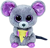 Ty Beanie Boos Squeaker, peluche ratón con queso, 15 cm (United Labels Ibérica 36192TY)