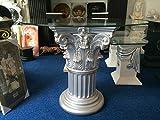 Medusa Esstisch Tische mit Styl Glastisch Medusa Wohntisch Mäander Barock Säulen Wohntische mit Styl 10/21 k28 ,100x100cm Glasplatte Rund