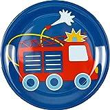 Assiettes Mélamine sans BPA Vaisselle pour Enfant Camion de Pompier Spiegelburg