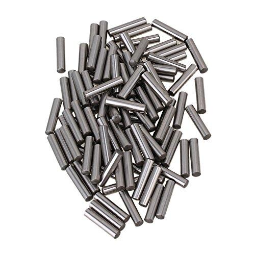 cnbtr Argento Acciaio PCB Board Cilindro Tassello metrico dritto Pins Rod Fissare Elementi, confezione da 100(4,3x 19,8mm) - Metrica In Acciaio Rod