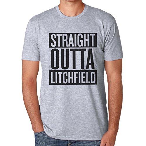 Straight Outta Litchfield Orange Is The New Black Herren T-Shirt Grau