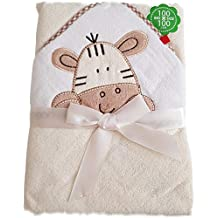 BlueberryShop Embroidered LARGE COTTON HOODED Bath Pool Beach TOWEL Baby Kid Todler Gift (39.5