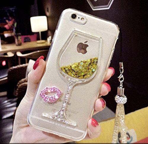 Case iPhone 5, iPhone 5S Cover, Bonice Lusso Cristallo Diamante Strass Glitter Bling [Rotazione Grip Ring Kickstand] Morbida Bordo in Silicone Posteriore a Specchio Telefono con Supporto Dellanello C model 01