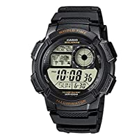 Casio Men's Digital Dial Resin Band Watch - AE-1000W-1AVDF