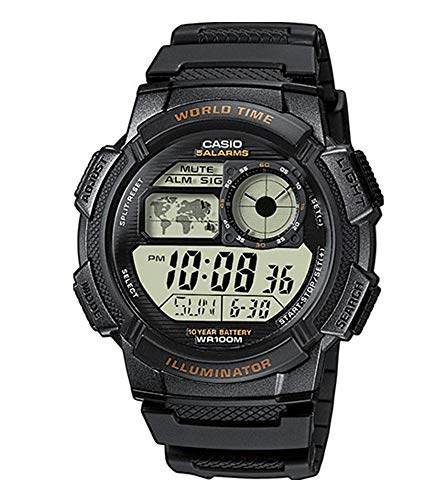 Casio Collection AE-1000W-1AVEF, Orologio con Luce LED da Uomo, Nero