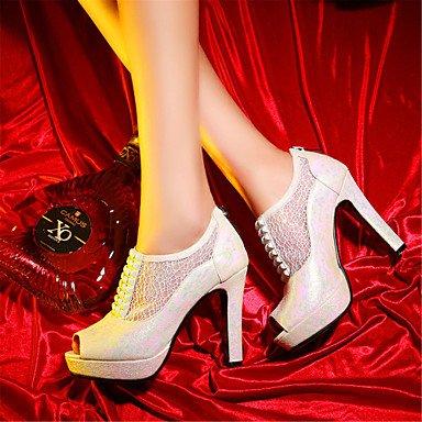 LvYuan Damen-Sandalen-Hochzeit Kleid Lässig-Glanz maßgeschneiderte Werkstoffe Kunstleder-Stöckelabsatz-Andere Neuheit Club-Schuhe-Blau Rot Weiß Red