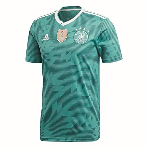 adidas Herren DFB Away Jersey 2018 Trikot, EQT Green s16/White/Real Teal s10, L