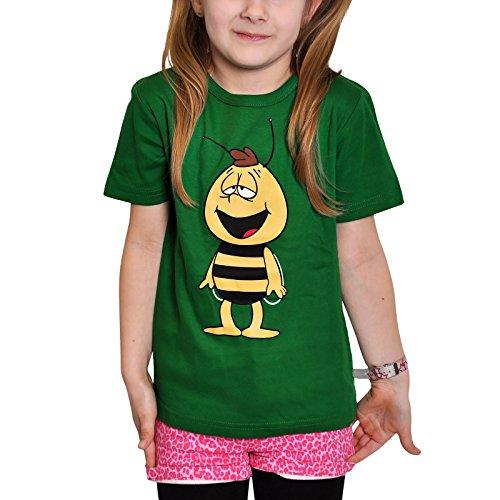 La abeja Maya - camiseta infantil de Willi - esttampado retro del zángano, con la licencia oficial, de gran calidad, verde - 80/86