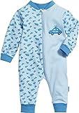 Playshoes Unisex Baby Schlafstrampler Schlafoverall Single-Jersey Polizei, Blau (original 900), (Herstellergröße: 56)