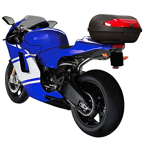 TecTake XXL Motorcycle back top box case universal scooter motorbike for 2 helmets topcase
