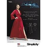 Simplicity–Patrón de Costura para Vestidos de Mujer y fajines (en Dos Longitudes, Papel