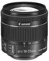 Canon EF-S 18 - 55 mm f/4-5.6 IS STM Lens for Camera - Black
