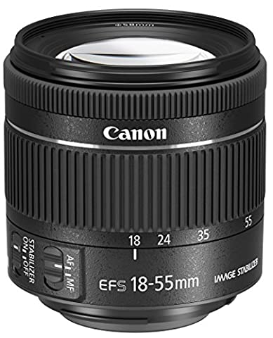 Canon EF-S 18-55mm 1:4,0-5,6 IS STM Objektiv (58mm Filtergewinde) schwarz (Objektiv Is)