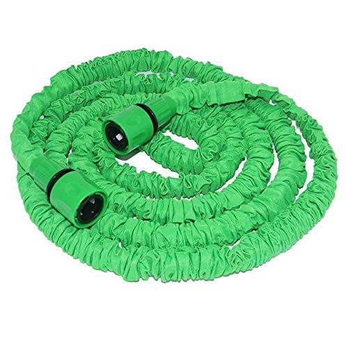 """GXFC Gartenschlauch erweiterbar, Flexibler Gartenwasserschlauch 3-Fach erweiterbar Flexibler Leichtgewichtsschlauch mit 3/4"""", 1/2""""(ohne Pistole),Green,75FT"""