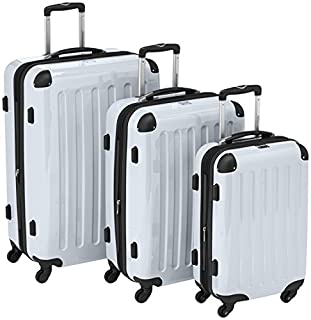 HAUPTSTADTKOFFER - Alex- Set of 3 Hard-side Luggages Trolley Suitces Expandable, (S, M & L), white (B00518KPTM)   Amazon price tracker / tracking, Amazon price history charts, Amazon price watches, Amazon price drop alerts