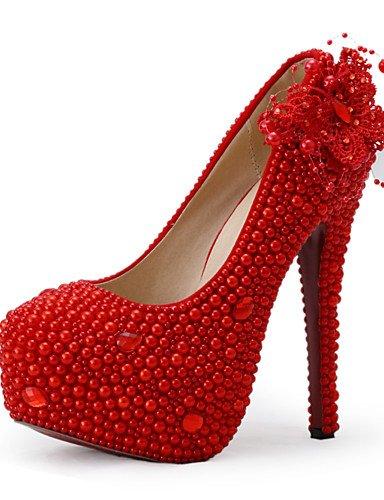 WSS 2016 Chaussures de mariage-Rouge-Mariage / Habillé / Soirée & Evénement-Talons-Talons-Homme 5in & over-us5 / eu35 / uk3 / cn34