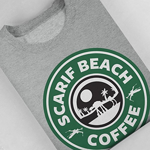 Star Wars Rogue One Scarif Beach Coffee Starbucks Logo Women's Sweatshirt Heather Grey