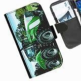 Hairyworm- Traktoren Seiten Leder-Schützhülle für das Handy Samsung Galaxy S5 Mini (SM-G800F, SM-G800A, SM-G800HQ, SM-G800H, SM-G800M, SM-G800R4, SM-G800Y)