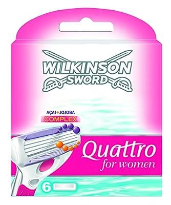 Wilkinson Sword Quattro For Women Razor Blades 6 Pack
