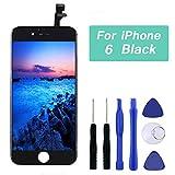 Q-EUU Kompatibel mit iPhone 6 Display Schwarz LCD Touchscreen Reparatur Bildschirm mit Komplettes Kostenlose Werkzeuge
