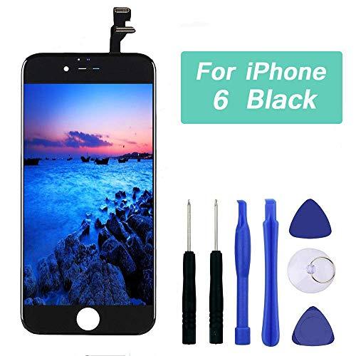 Q-EUU Kompatibel mit iPhone 6 Display Schwarz LCD Touchscreen Reparatur Bildschirm mit Komplettes Kostenlose Werkzeuge -
