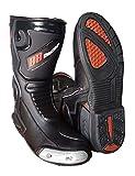 #6: Biking Brotherhood Designer Riding Boots (11/45, Black with Red)