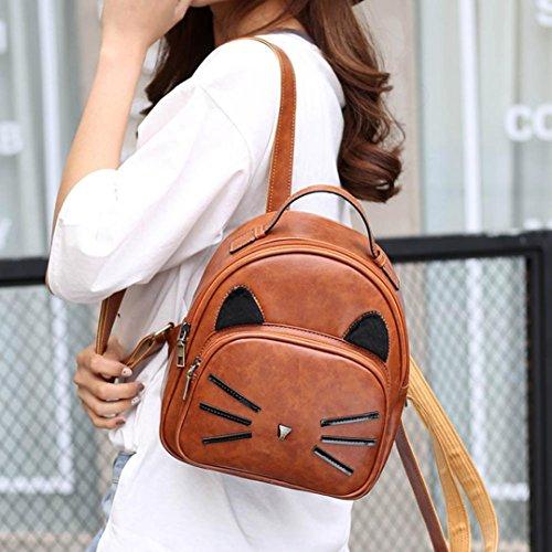 Regalo di festival, Reasoncool Cat Miss Hu Zi borse scuola spalla Cachi