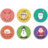 YaYa Cafe Christmas Gifts, Christmas With Snowman Santa Wooden Tea Coasters For Drinks Dining Table Set Of 6