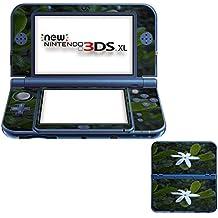 Flores 10063, Flor Blanca, Pegatina de piel cubierta de vinilo con laminado efecto de cuero y diseño colorido para New Nintendo 3DS XL Sticker