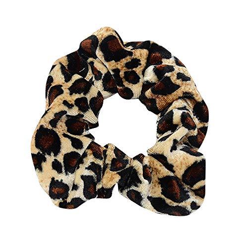Frauen Leopard Elastisches Haar Seil Ring Krawatte Scrunchie Pferdeschwanz Inhaber Haarband Stirnband Haargummis Haarbänder Gummiband Haarschmuck Haar Accessoires Headwear(A.heiß)