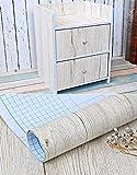 Blanco grano de madera de arce papel de contacto - Vinilo autoadhesivo para maletero para cuarto de baño gabinetes de cocina estantes de cajón mesa artes y manualidades para 60 x 300 cm